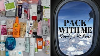 PACK WITH ME LONG WEEKEND TRIP | BEAUTY & MAKEUP + TIPS
