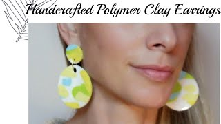 How to make & resin polymer Clay earrings