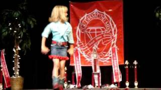 Kaylie Ann singing and dancing at the Arkansas State ODM Pagea…