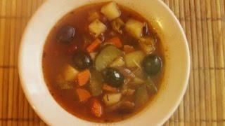 Простые рецепты. Вегетарианская солянка.