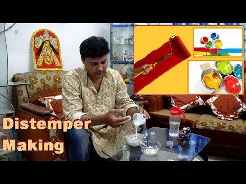 Distemper making formula Distemper paint making How to make distemper
