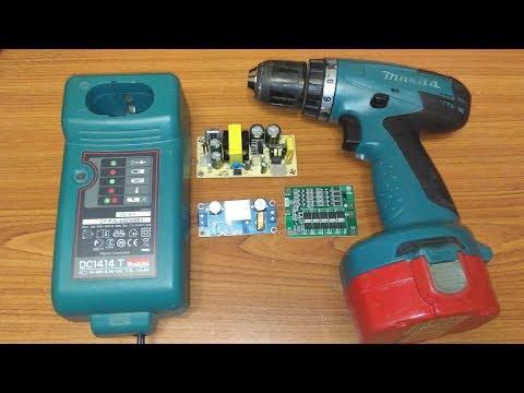 Переделка шуруповерта Makita 6281D с Ni Cd на Li Ion аккумуляторы