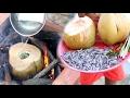 Amazing Children Cook Shrimp In Coconut Fruit - How To Cook Shrimp In Cambodia