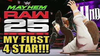 WWE Mayhem - Raw 25th Anniversary Event, My First 4 Star In The Lootcase Opening!!!