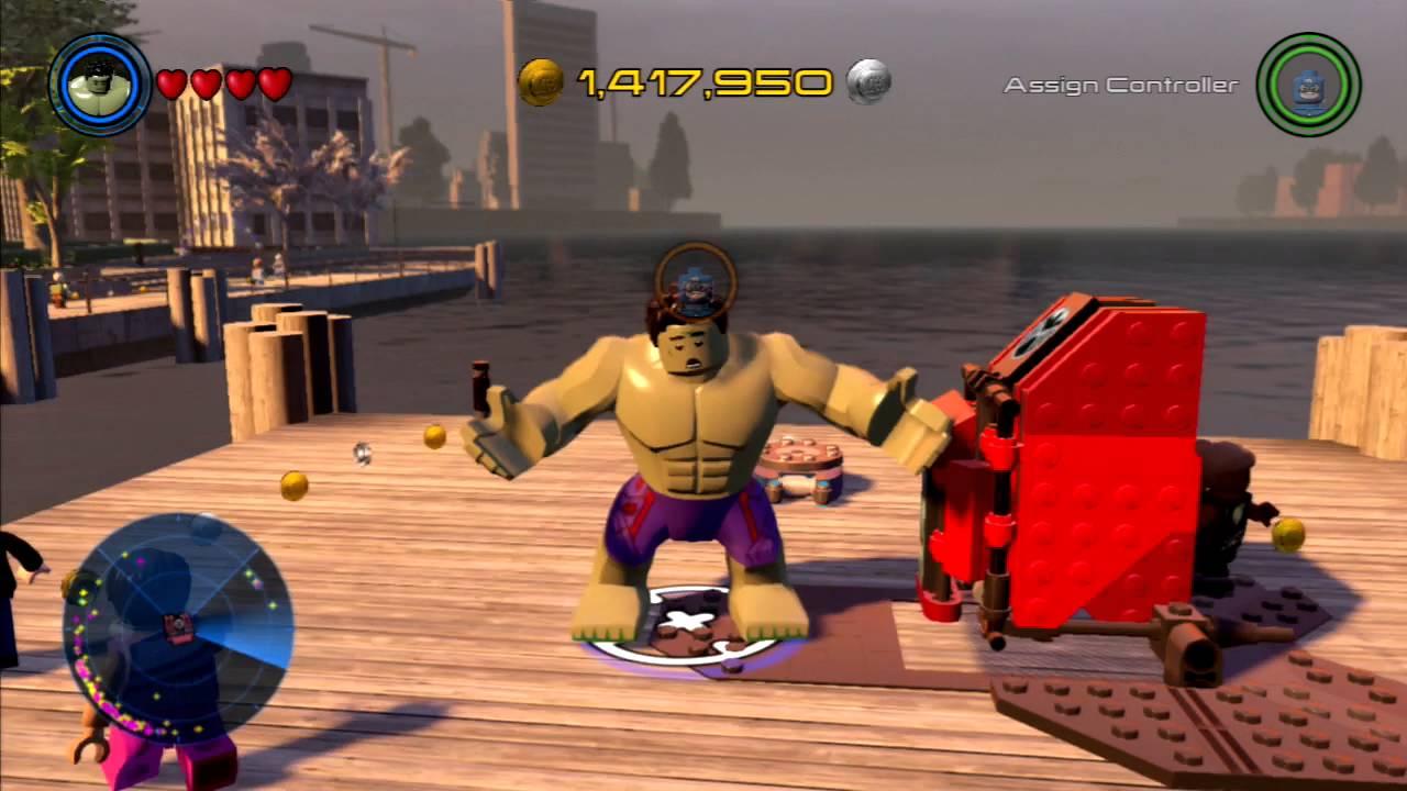 Lego Marvel S Avengers Free Roam Challenge Hulk Youtube