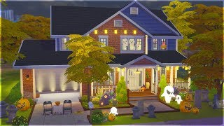 Halloween in the Suburbs | The Sims 4 Speed Build