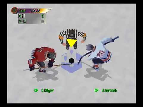 NHL Blades of Steel 99-Chicago Blackhawks vs Edmonton Oilers