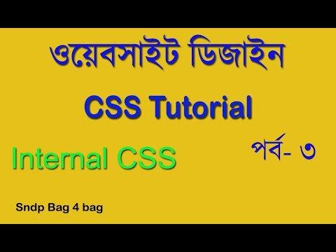HTML & CSS BANGLA TUTORIAL FOR BEGINNERS PART 3 |  USE INTERNAL CSS।ওয়েব সাইট ডিজাইন বাংলা thumbnail