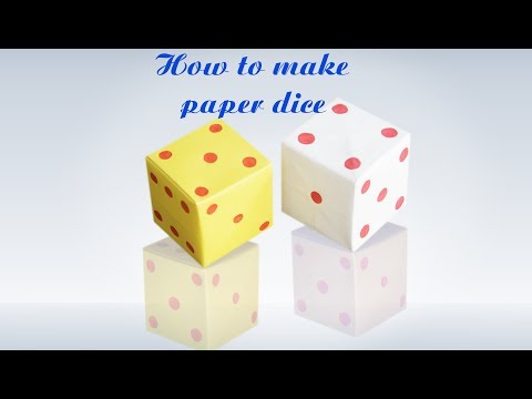 How to Make Origami Loaded Dice    Step by Step Instructions    Paper Dice    DIY  craft    Tutorial