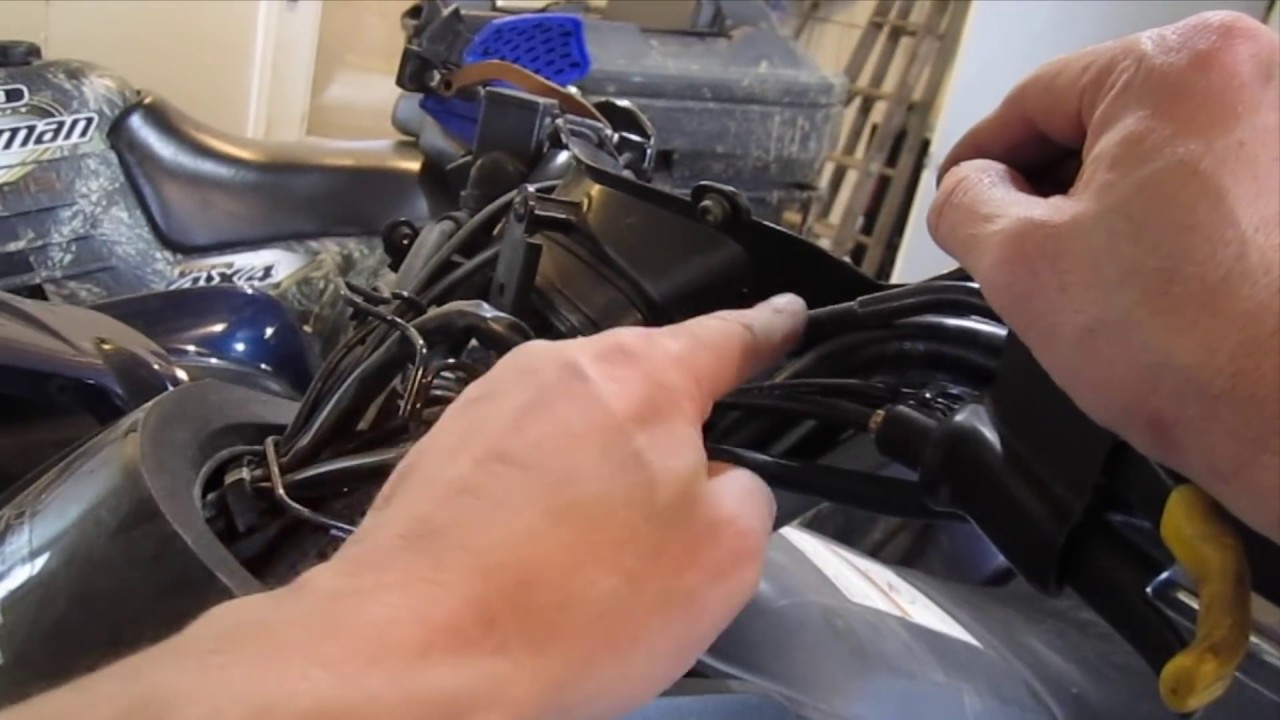 how to adjust the differential lock lever on a kawasaki brute force prairie atvs diy youtube [ 1280 x 720 Pixel ]
