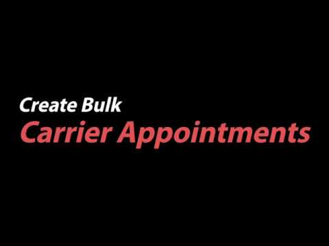 Feature How to: BrokerEngage Create Bulk Carrier Appointments