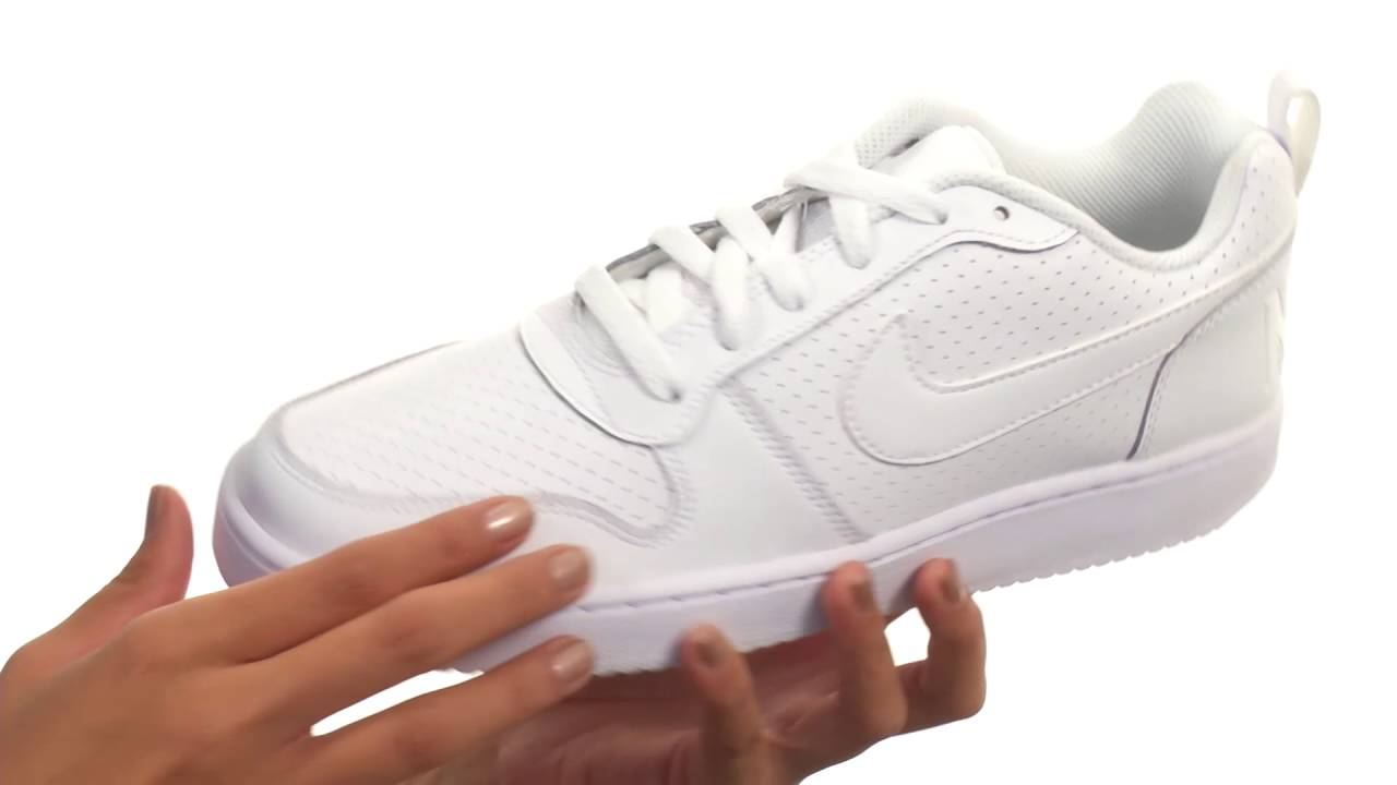 Womens Nike Recreation Low White Lace Up Shoes Z48782