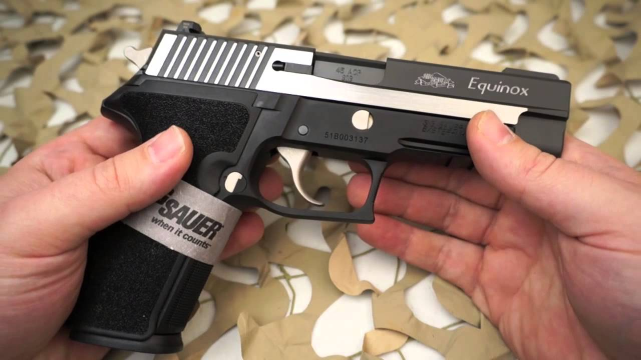medium resolution of sig p227 equinox 45acp single double action with decocker pistol review texas gun blog youtube