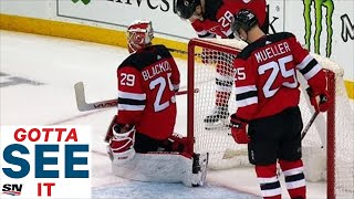 GOTTA SEE IT: Devils Score Own Goal In OT To Hand Maple Leafs A Win
