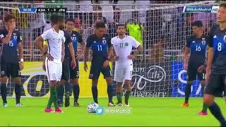 لحظة اعلان الحكم تأهل الأخضر السعودي الى #روسيا ٢٠١٨ .