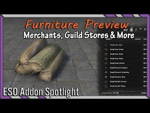 Furniture Preview (Guild Stores, Merchants) | ESO Addon Spotlight | Elder Scrolls Online Best Addons