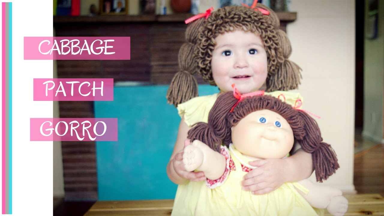 GORRO DE CABBAGE PATCH A CROCHET (subtitles) - YouTube