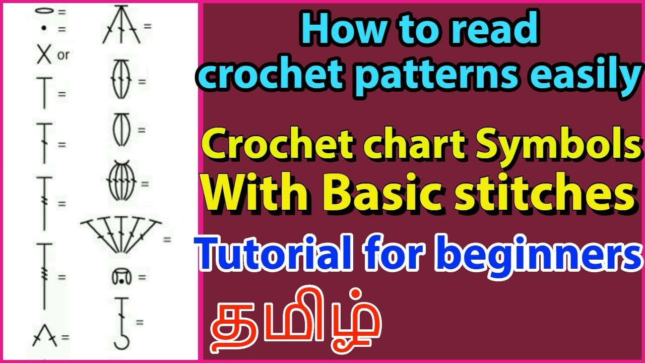How To Read Crochet Patterns By Understanding Crochet Symbols With