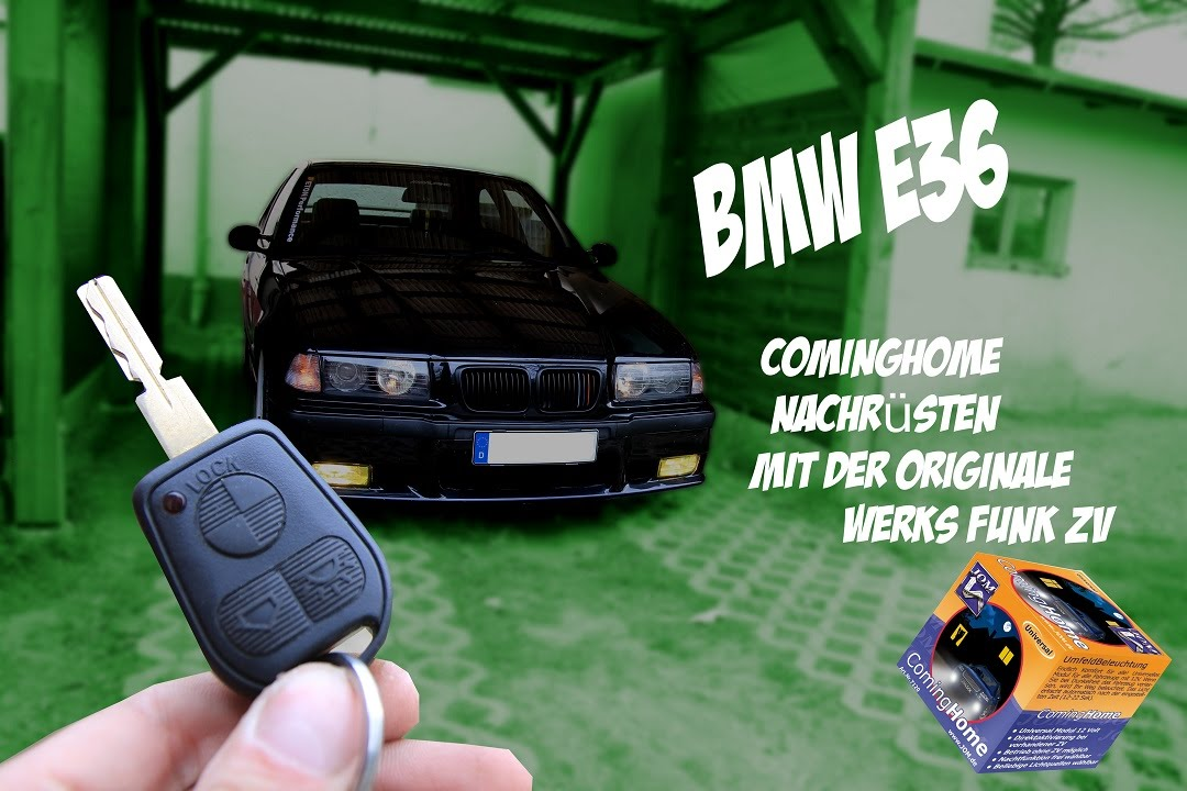 bmw e36 cominghome nachr sten mit original werk funk zv youtube. Black Bedroom Furniture Sets. Home Design Ideas