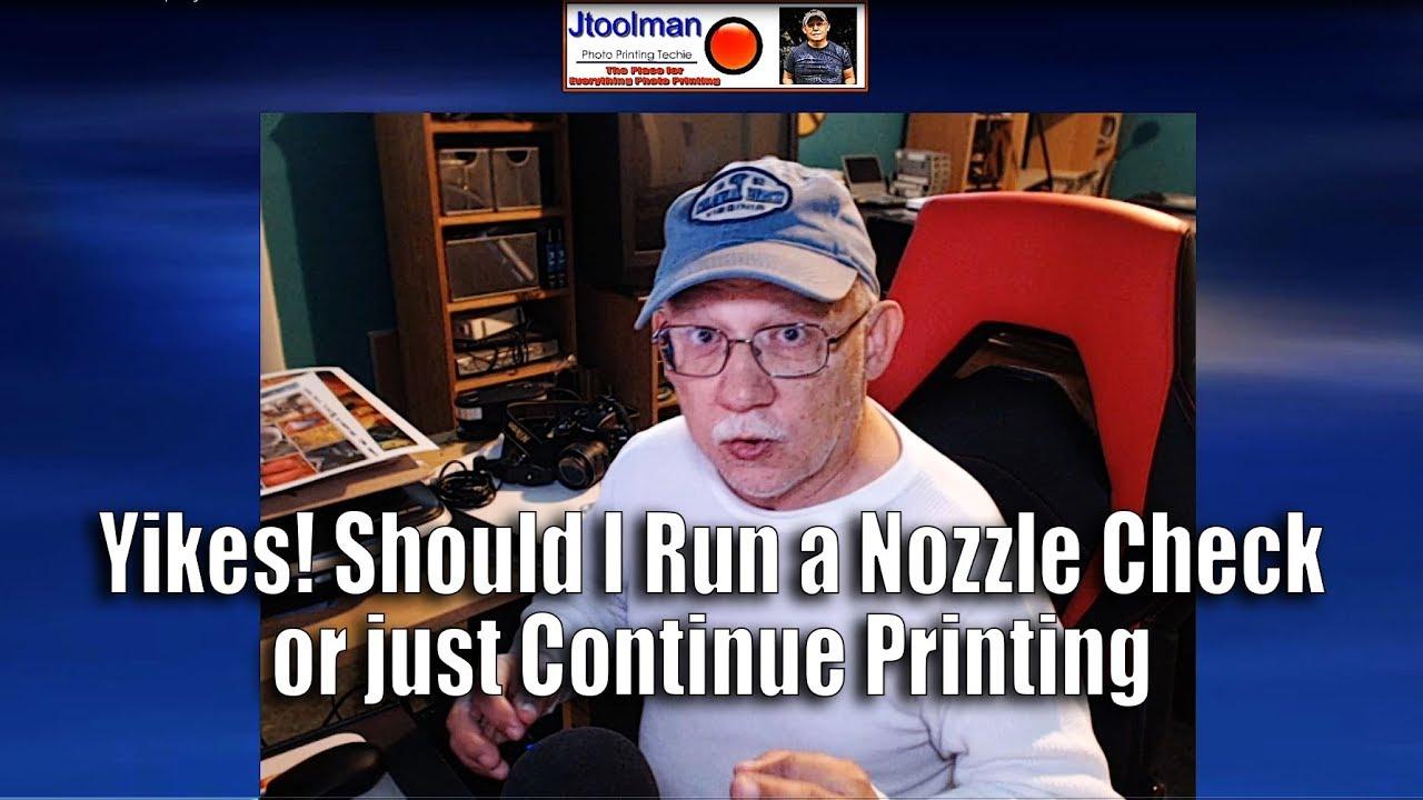 Yikes! Should I run a Nozzle Check or continue printing?
