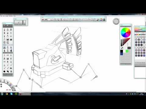 Concept Art Robot Sketching Tutorial (Part 1)