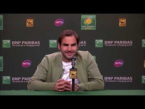 BNP Paribas Open 2018: Roger Federer QF Press Conference