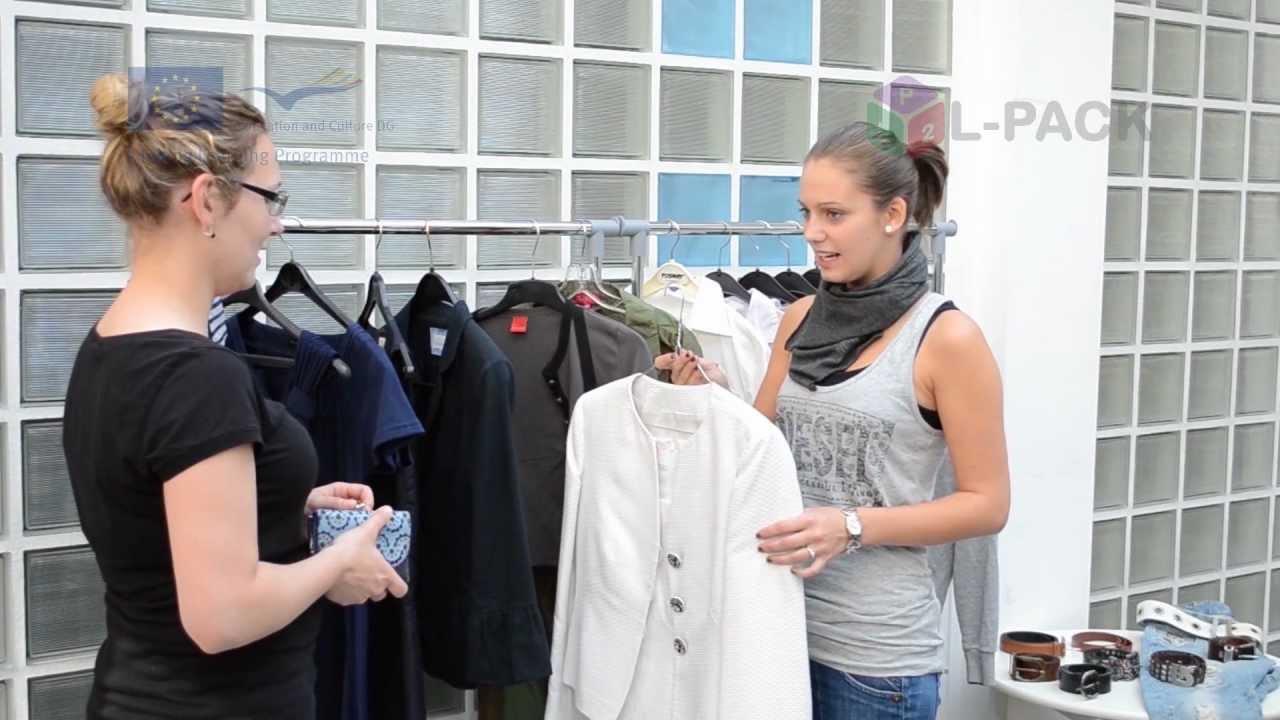 Kleider kaufen dialog