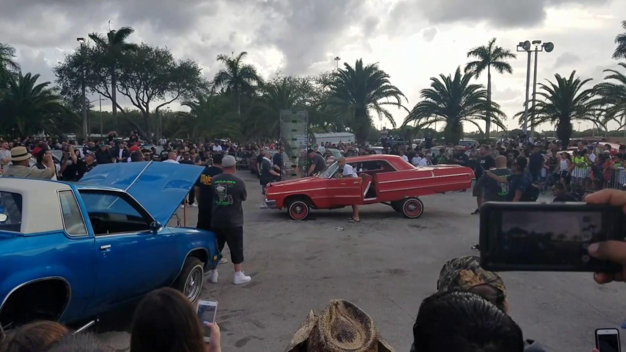 Miami Lowrider Show Hopping Contest YouTube - Miami car show 2018