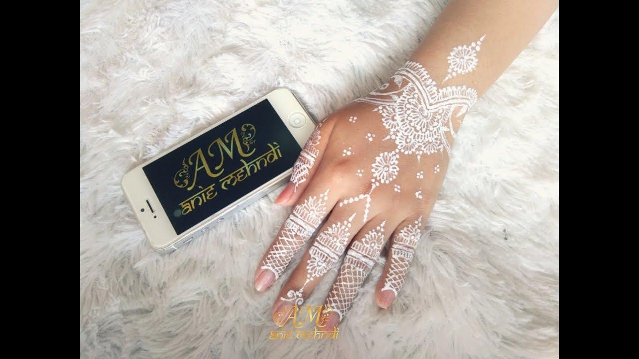 Simple White Henna Design Easy Diy Henna 63 Youtube