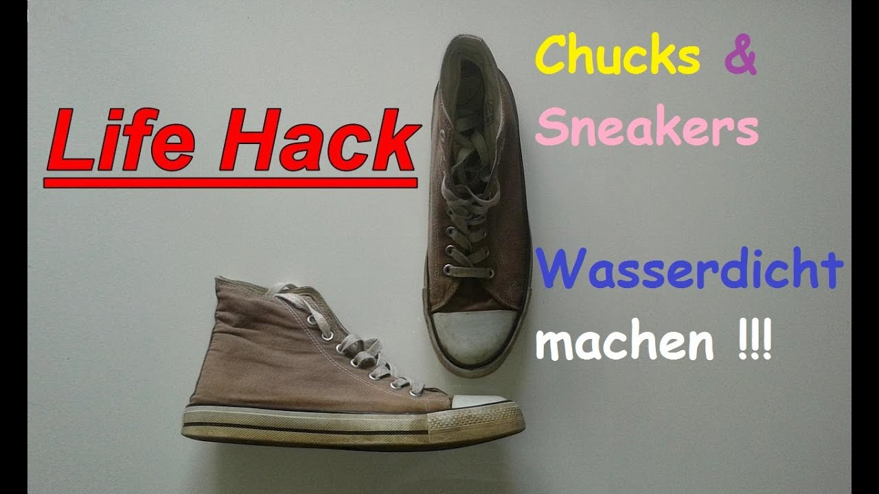 chucks schuhe wasserdicht machen stoffschuhe selber impr gnieren diy life hacks youtube. Black Bedroom Furniture Sets. Home Design Ideas