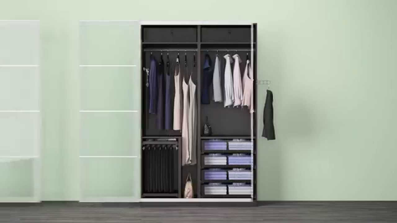 verschiedene komplement l sungen in einem ikea pax kleiderschrank youtube. Black Bedroom Furniture Sets. Home Design Ideas