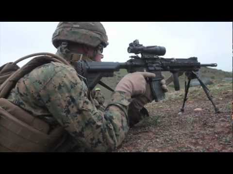 Marines Practice Counter Ambush Maneuver - 1st Battalion 4th Marine Regiment - Camp Pendleton