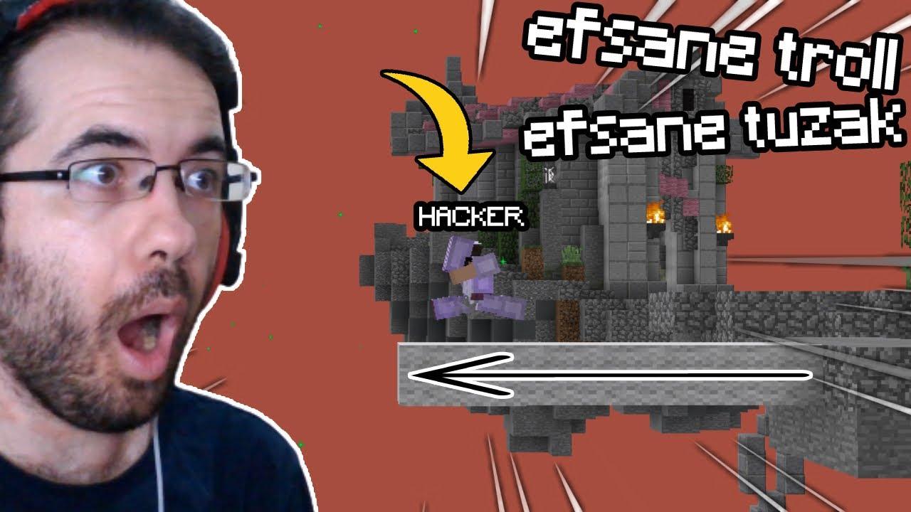 FAKE HACKER TROLL! (Rakipler Şok)   Minecraft Bed Wars