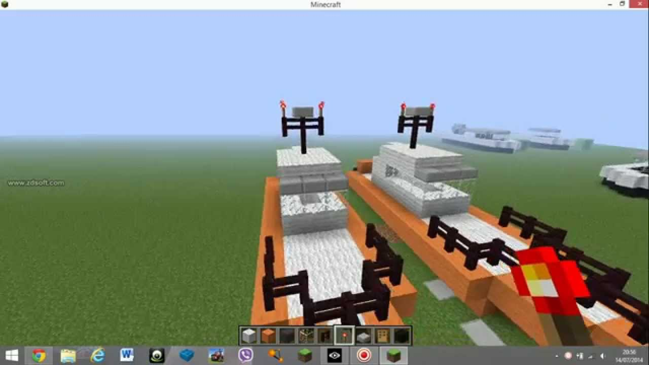 how to make a small boat in minecraft