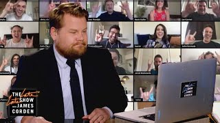 Nobody Invited James Corden to Staff Game Night