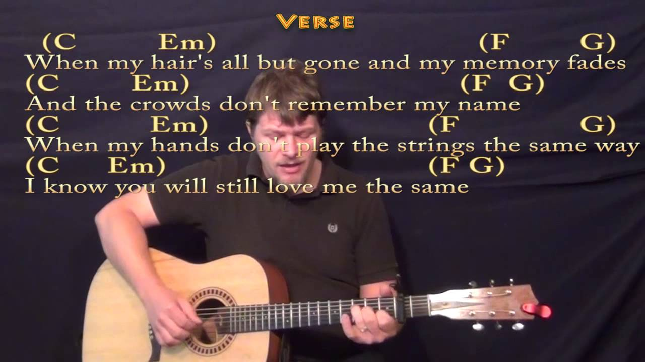 Thinking Out Loud - Fingerstyle Guitar Cover Lesson with Chords/Lyrics - YouTube