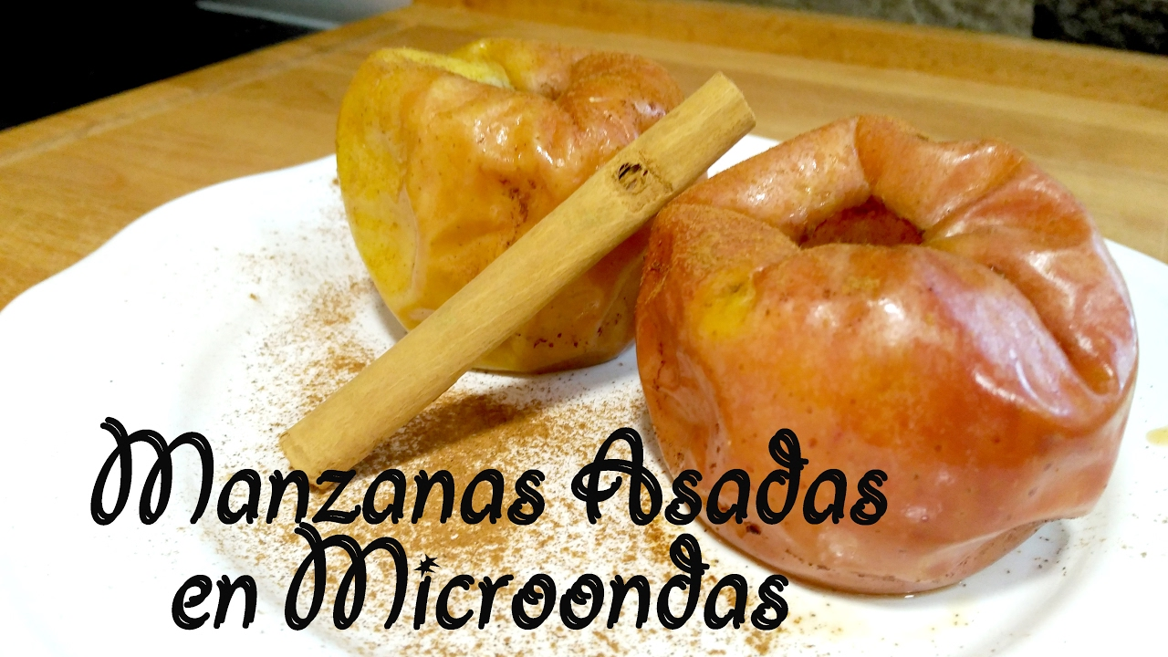 Como hacer manzanas cocidas en microondas