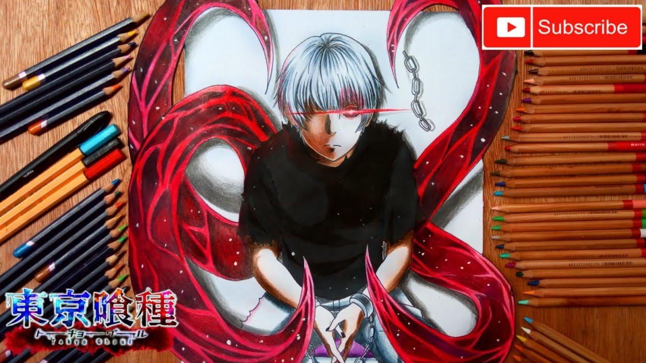 Drawing 3D Kaneki Ken Kagune (Tokyo Ghoul)