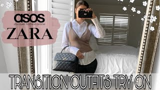 ZARA ASOS TRY ON HAUL | TRANSITIONAL WINTER SPRING OUTFITS