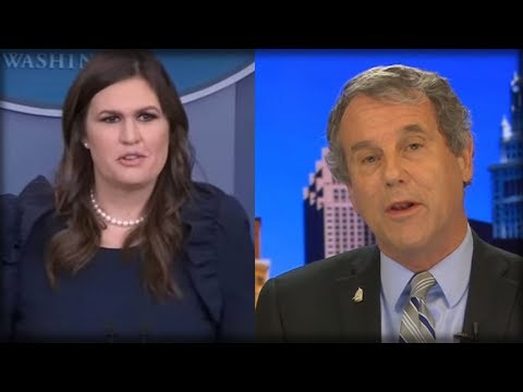 SARAH SANDERS SENDS SHERROD BROWN SCURRYING BACK TO OHIO WITH TAIL BETWEEN LEGS