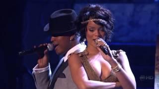Rihanna feat. Ne Yo - Umbrella & hate that i love you live american music awards 2007