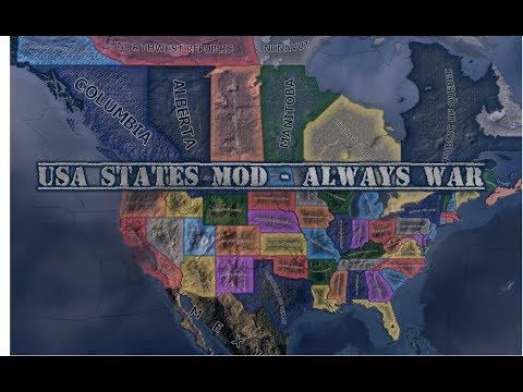 HOI4: UNITED STATES ALWAYS WAR TIMELAPSE (UPDATED)