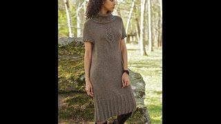Платье спицами. Часть 1. Итальянский набор петель. Полая резинка.