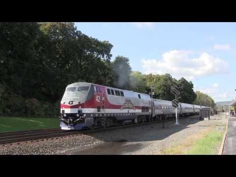 Amtrak Pennsylvanian train 42 with Veterans unit Lewistown, PA 10 8 13