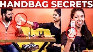 """Unga Toothpaste La Uppu Irka"" ? – Baby Sadhana Handbag Secrets Revealed -What's Inside The HANDBAG"