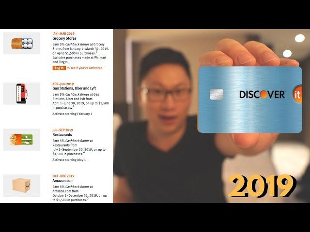 Discover It 5% Cashback Calendar 2019 — AskSebby