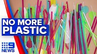 Single-use plastics ban starts tomorrow   9 News Australia