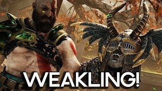 WEAKLING VALKYRIE IN GOD OF WAR 4! Gameplay Walkthrough Part 52!! (PS4 PRO 60FPS)