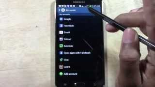 Galaxy Note 3 - How to Add an Email Account