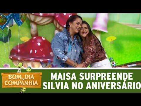 Maisa surpreende Silvia Abravanel em seu aniversário | Bom Dia e Cia. (18/04/17)
